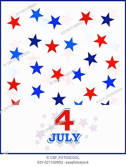 4th of July vector card