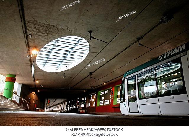 Espronceda station, Trambaix, Barcelona, Catalonia, Spain