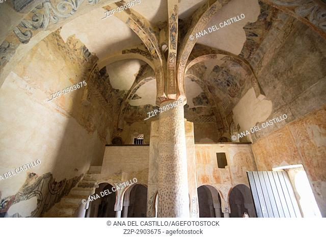 The Hermitage of San Baudelio de Berlanga is an early 11th-century church at Casillas de Berlangain the province of Soria, Castile and León, Spain on June 10