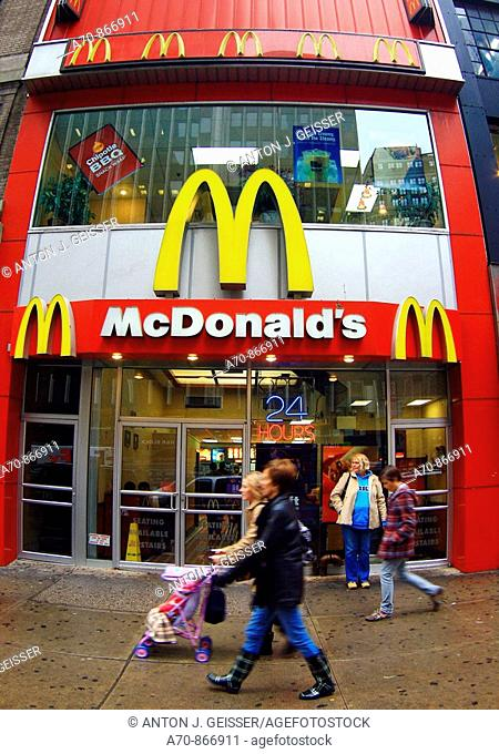 USA, New York City, Fast Food, McDonalds