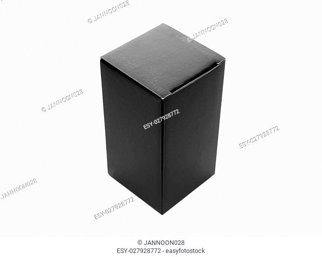 Black box on a white background