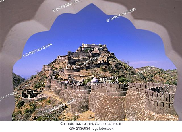 Kumbhalgarh Mewar fortress, around Udaipur, State of Rajasthan, India, South Asia