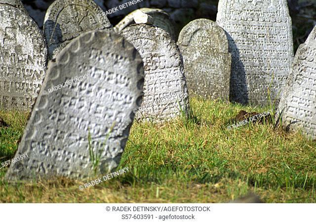 Jewish cemetery in Rabi village, South Bohemia, Czech Republic, Central Europe