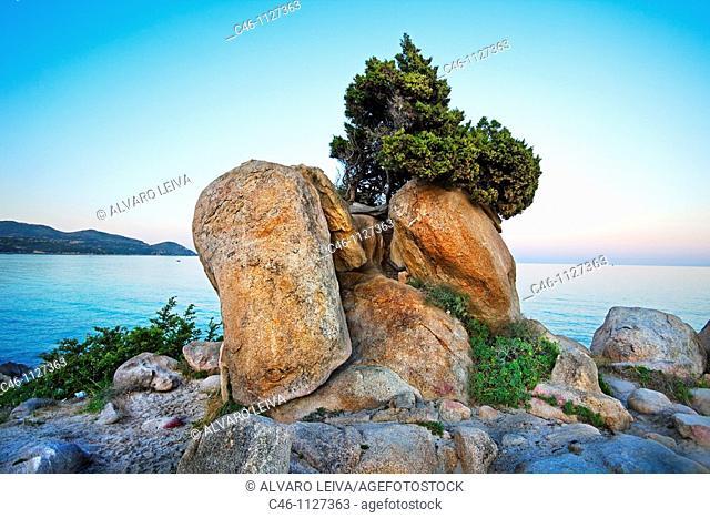Simius Beach. Villasimius. Sardinia. Italy
