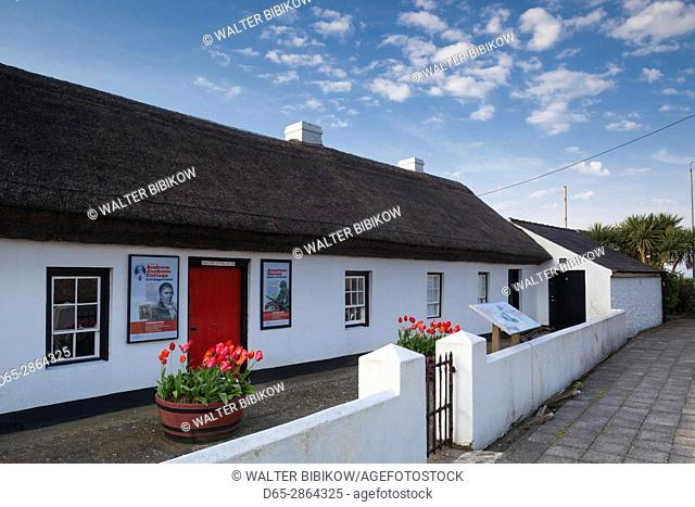 UK, Northern Ireland, County Antrim, Carrickfergus, Andrew Jackson Cottage, ancestral home of US seventh president