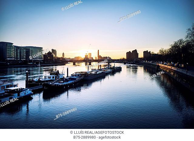 Chelsea Harbour, River Thames, Sands End, London, England