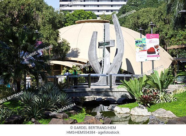 Philippines, Luzon island, Manila, Makati district, the Greenbelt mall, Sao Nino church
