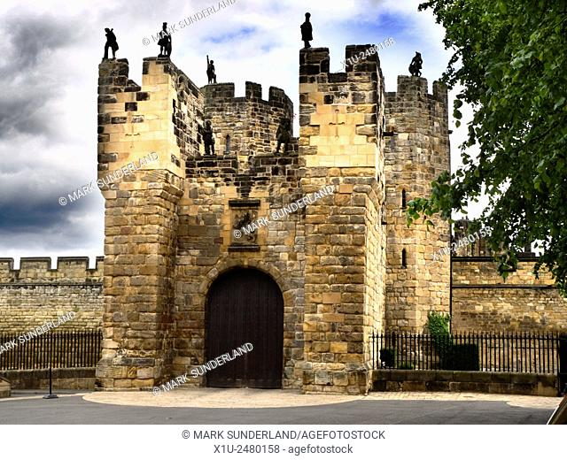 Gatehouse at Alnwick Castle Alnwick Northumberland England
