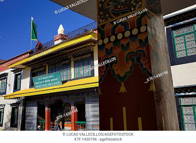 Library of tibetan works and archives, Dharamsala, Himachal Pradesh state, India, Asia