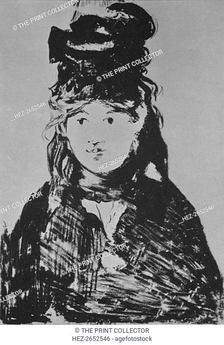 'Berthe Morisot', c. 1870s, (1946). Portrait of the French Impressionist painter Berthe Morisot (1841-1895). She was married to Eugene Manet