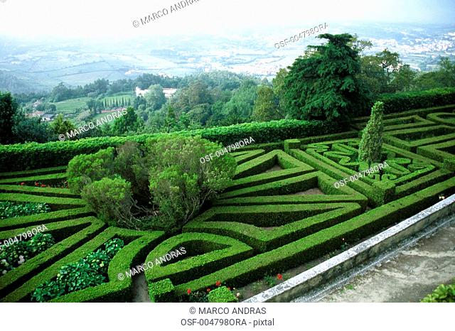 portugal green decorated garden natural place empty