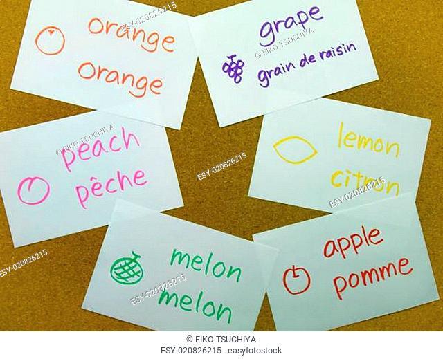 Language Flash Cards French