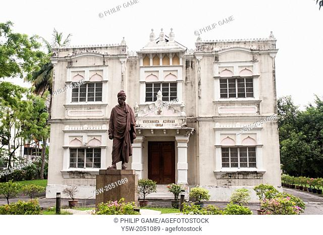Vivekananda Ashram (1904) in the 'Little India' district of Brickfields, Kuala Lumpur, Malaysia