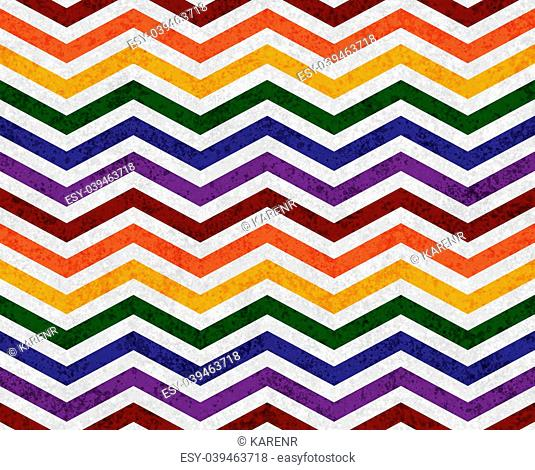 Gay Pride Colors in a Zigzag Pattern Background that is seamless and repeats