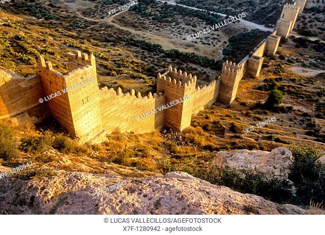 Fortified Wall Muralla de Jayran  Almeria  Andalucia  Spain