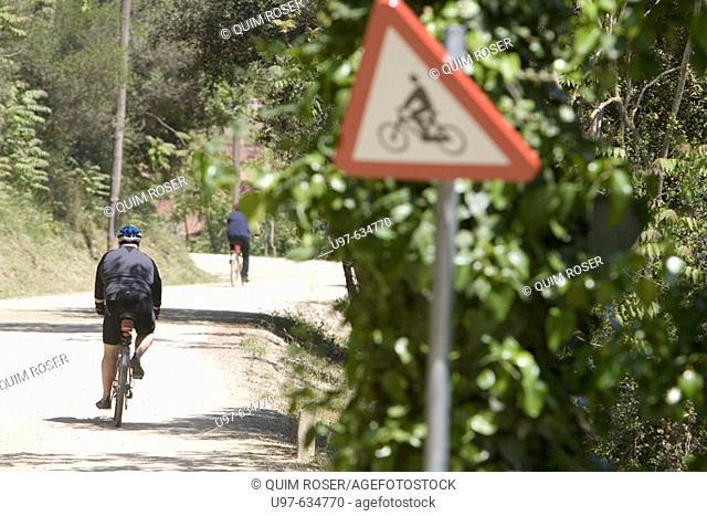 Cyclists, Serra de Collserola, Barcelona, Spain