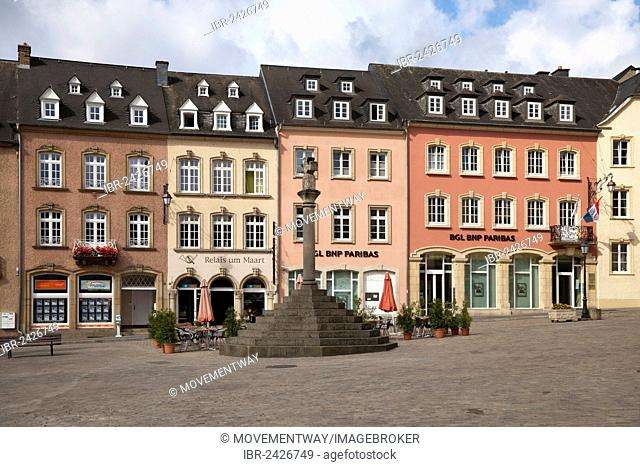 Marktplatz square, Echternach, Luxembourg, Europe, PublicGround