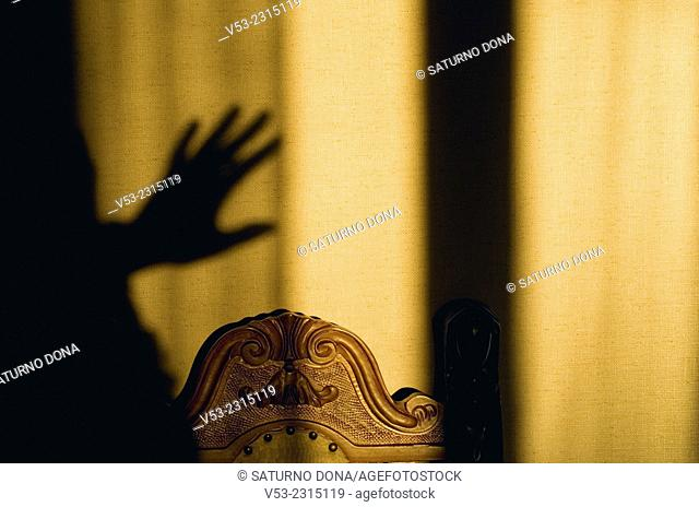 Hand shadow and chair