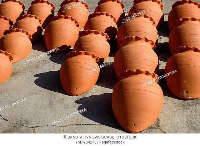 clay pottery for sale, Algarve, Portugal, Europe