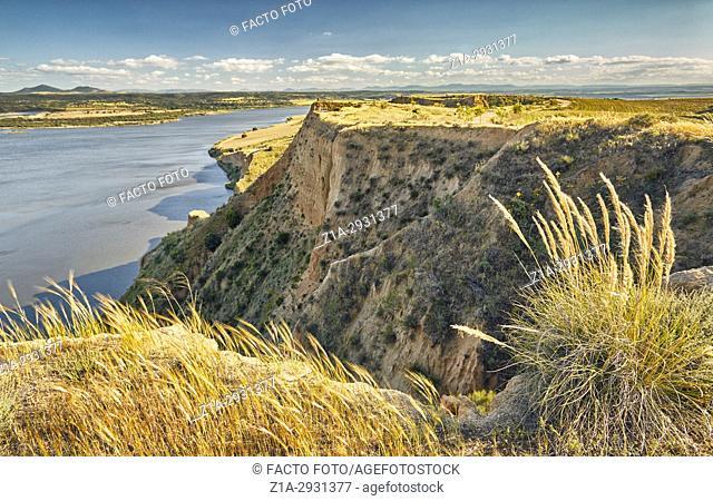 Barrancas de Burujon (Burujon canyons), gullied landscape. Toledo. Castile-La Mancha. Spain