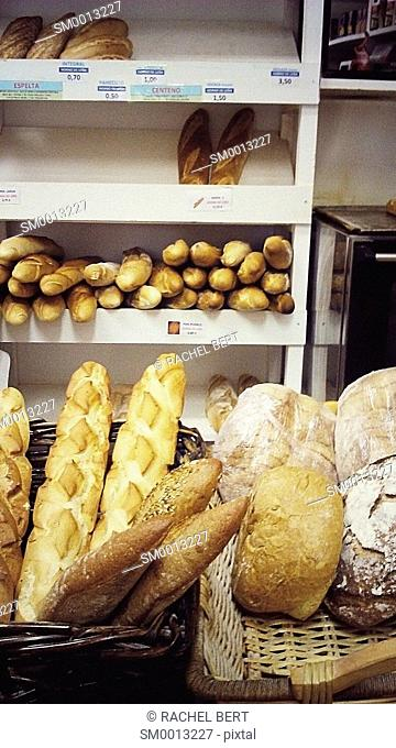 Bakery, old district, Saragossa, Aragon, Spain