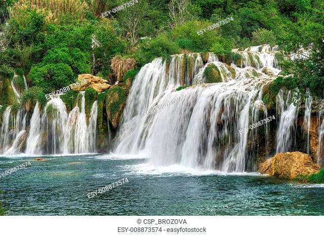 aterfalls in the Krka National Park,Croatia