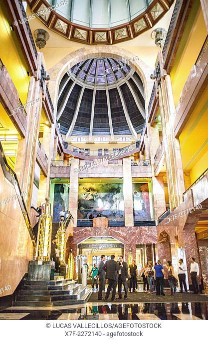 Interior of Palacio de Bellas Artes, Mexico City, Mexico