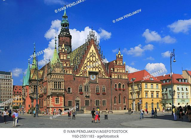 Market Square and the Old Town Hall, Wroclaw, Poland