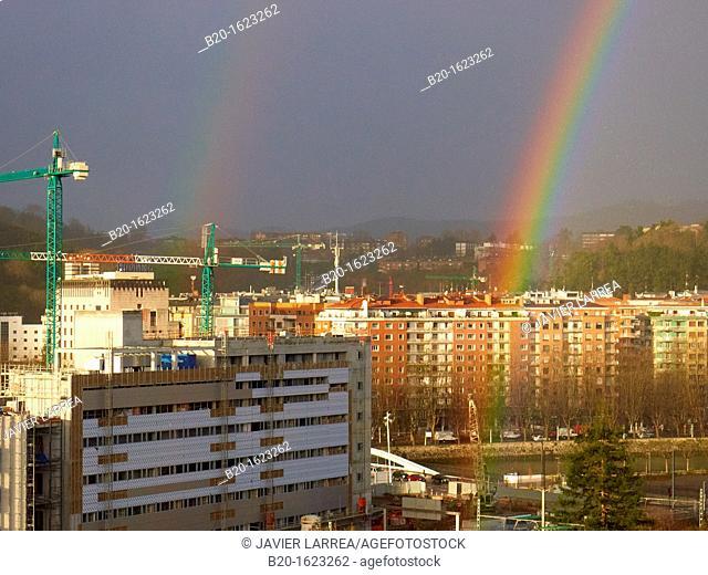 Rainbow, Donostia, San Sebastian, Gipuzkoa, Basque Country, Spain