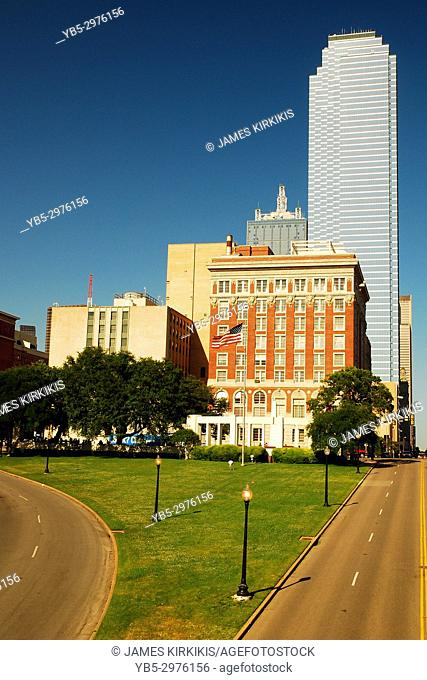 Dealy Plaza and the Dallas Skyline