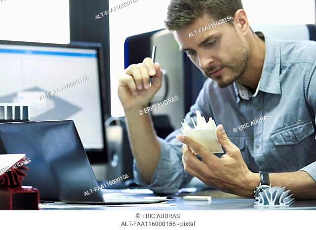 Engineer working in office