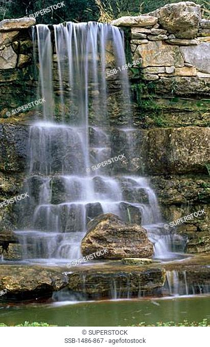 Waterfall in a forest, Zilker Park, Austin, Texas, USA