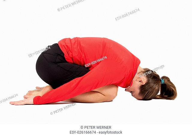 woman during yoga
