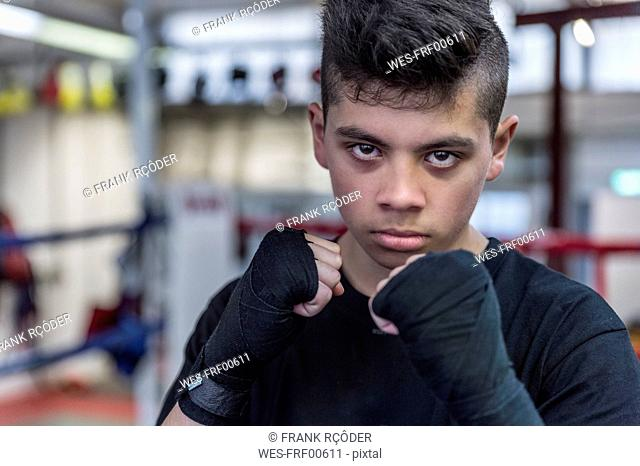 Portrait of a young martial artist