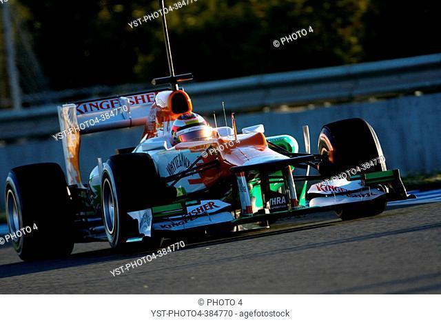 Jules Bianchi FRA, Sahara Force India Formula One Team, F1 Testing Jerez de la Frontera, Spain 7-10 February 2012