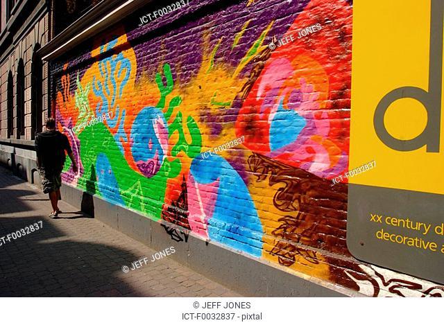 Belgium, Brussels, graffitis