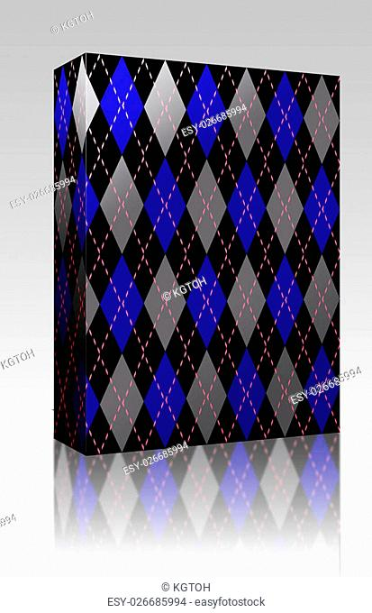 Software package box Argyle knit pattern seamless tiling background texture