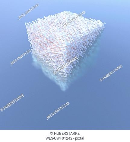 3D Rendering, Structures bundled in cube shape