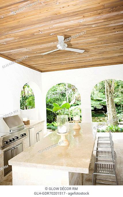 Interiors of a domestic kitchen