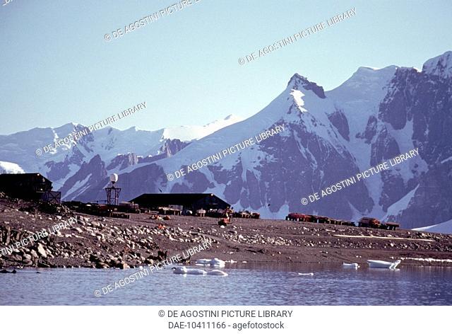 British antarctic survey base of Rothera, Adelaide island, Antarctica