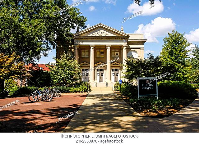 """The Fulton Chapel building on the campus of """"""""Ole Miss"""""""" - University of Mississippi at Oxford"""
