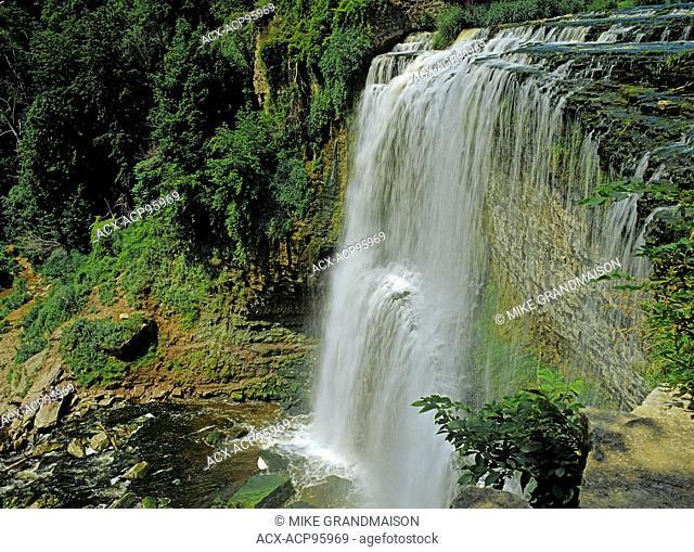 Webster's Falls on Spencer Creek on Niagara Escarpment Hamilton Ontario Canada