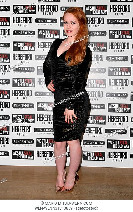 The Special Screening of 'We Still Steal The Old Way' held at the Soho Hotel - Arrivals Featuring: Ella Hughes Where: London