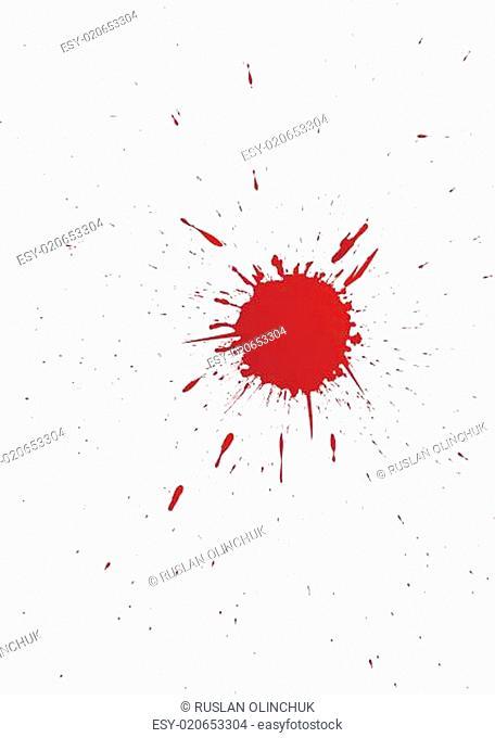 vector set of grunge blood spot for your design