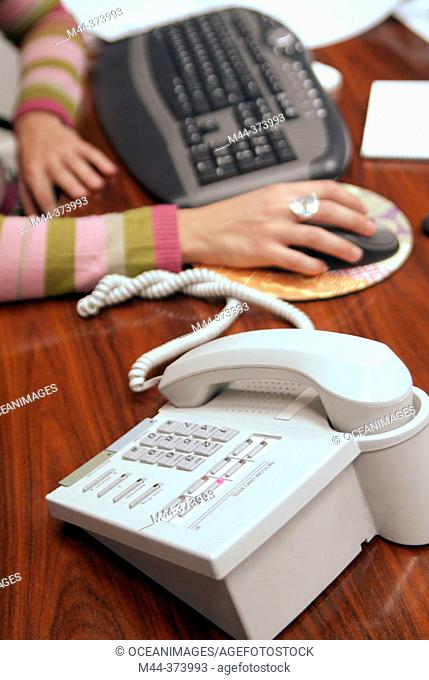 Office, telephone and computer