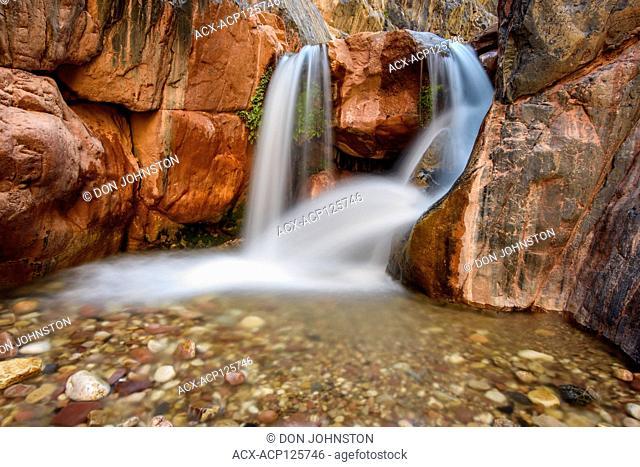 Clear Creek canyon waterfall (Mile 85), Grand Canyon National Park, Arizona, USA