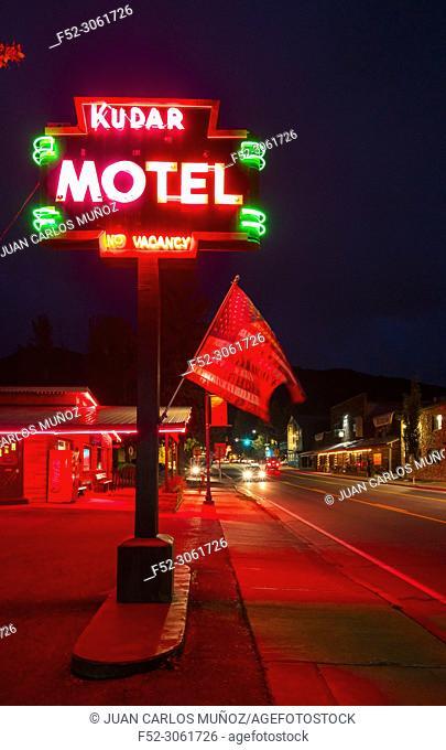 The Historic Town Square, Jackson, Grand Teton National Park, Wyoming, Usa, America