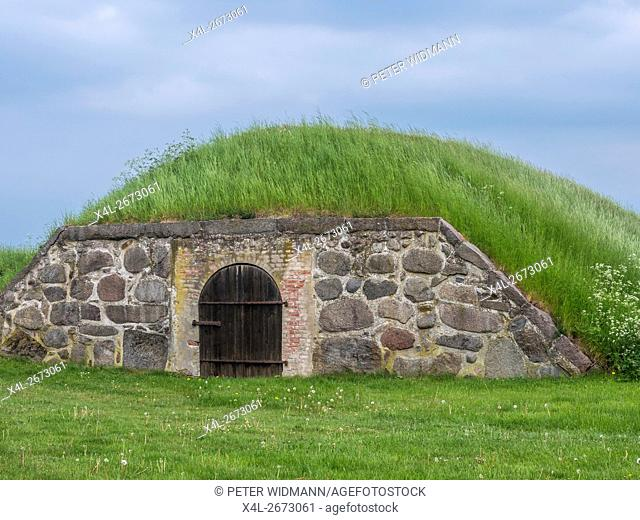 Earth cellar on Kronborg castle, Helsingor, Zealand, Danmark, Europe