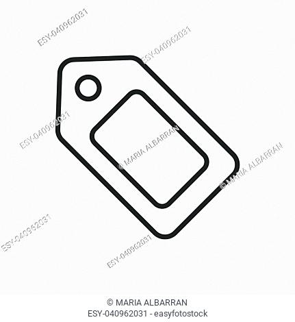 Tag line icon on a white background. Vector illustration