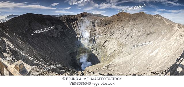 View of Bromo's caldera, Bromo Tengger Semeru National Park (East Java, Indonesia)